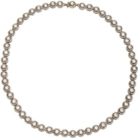 Diamond Gold And Silver Single Line Necklace
