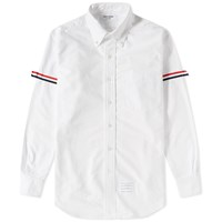 Thom Browne Grosgrain Arm Band Oxford Shirt White