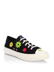 Moschino Flower Low Top Sneakers Black
