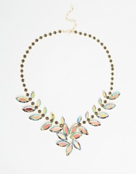 Little Mistress Iridescent Statement Necklace Multi