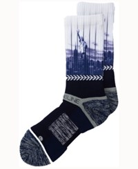 Strideline New York City Socks Ii Navy White