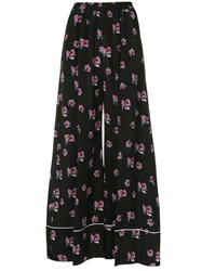 Racil Floral Print Trousers Black