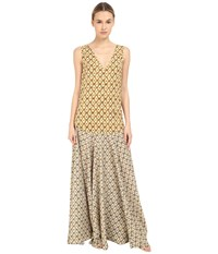 Just Cavalli Printed Maxi Dress Light Variant Women's Dress Beige