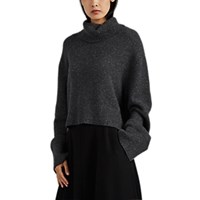 Co Boxy Cashmere Turtleneck Sweater Gray