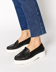 Park Lane Chunky Leather Loafers Black
