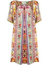 Etro Floral Print Tunic Dress Green