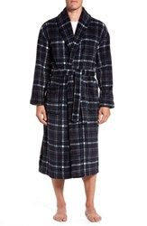 Majestic International Men's Boulevard Robe Navy Plaid