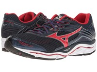 Mizuno Wave Enigma 6 Dress Blue Chinese Red Silver Men's Running Shoes Black