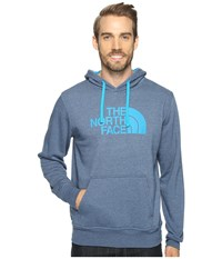 The North Face Half Dome Hoodie Shady Blue Heather Hyper Blue Men's Long Sleeve Pullover