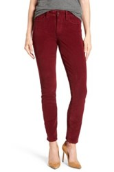 Nydj 'Alina' Skinny Stretch Corduroy Pants Red