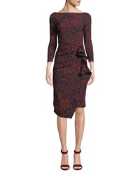 La Petite Robe Di Chiara Boni Zelma Side Shirred Printed Dress Red Black
