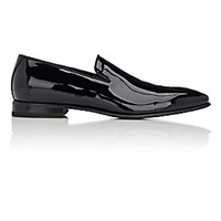 Franceschetti Men's Patent Leather Venetian Loafers Blue