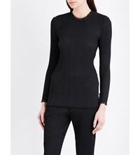 By Malene Birger Rituala Frayed Edge Pleated Top Black