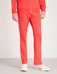 Ck Calvin Klein Side Striped Jersey Jogging Bottoms Tomato