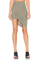 Pam And Gela Draped Skirt Sage