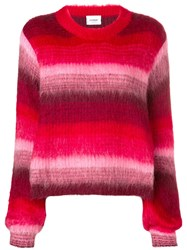 Dondup Striped Sweater Red