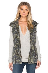 Velvet By Graham And Spencer Blair Army Tied Waist Front Zipper Vest