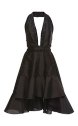 Maria Lucia Hohan Eisa Plunging Neckline Dress Black