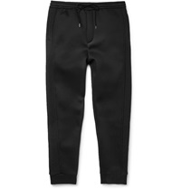 Chalayan Mesh Panelled Wool Blend Sweatpants Black
