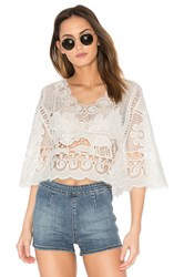 Farm Crochet Blouse White