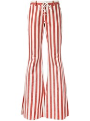 Roberto Cavalli Striped Flared Jeans