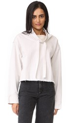 Dkny Pure Cowl Neck Top Gesso