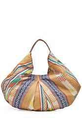 Christophe Sauvat Embroidered Hobo Tote With Cotton