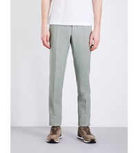 Slowear Slim Fit Tapered Linen Blend Chinos Lt Green