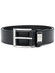 Hugo Boss Logo Buckled Belt Black