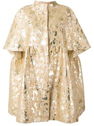 Gianluca Capannolo Embroidered Brocade Coat Nude Neutrals
