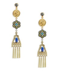 Gerard Yosca Fringe Drop Earrings No Color