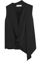 Victoria Beckham Draped Matte Satin Wrap Top