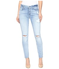 7 For All Mankind The Skinny W Destroy In Bright Bristol 2 Bright Bristol 2 Women's Jeans Blue