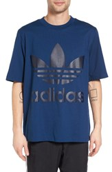 Adidas Men's Originals Ac Boxy Oversize T Shirt Mystery Blue