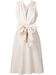 Tome Crepe Bow Dress White