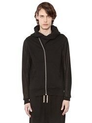 Rick Owens Drkshdw Sweatshirt W Leather Sleeves