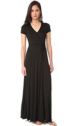 Three Dots Wrap Dress Black