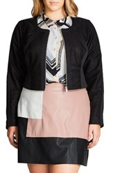City Chic Plus Size Women's Spliced Player Jacket