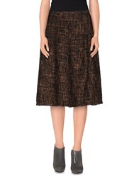 Rosamunda Skirts 3 4 Length Skirts Women Dark Brown