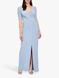 Adrianna Papell Plus Size Jersey Dress Ice Blue