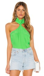 Amanda Uprichard Queens Top In Green. Mojito