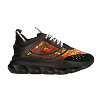 Versace Chain Reaction Printed Trainers Black