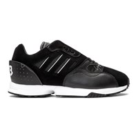 233032cd1 Y 3 Black And White Zx Run Sneakers