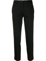Twin Set Cropped Tailored Trousers Black