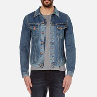 Nudie Jeans Men's Billy Denim Jacket Crunch Blue