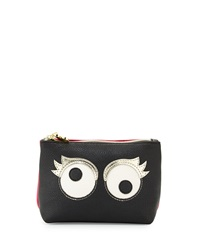 Betsey Johnson Googly Moogly Cosmetic Bag Black