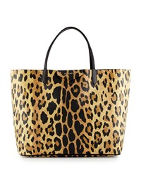 Antigona Large Leather Shopping Tote Bag Animal Print Leopard Givenchy