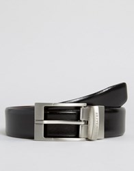 Ted Baker Reversible Smart Leather Belt Black