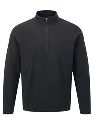 Tog 24 Sixa Mens Tcz 100 Fleece Zip Neck Black