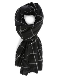 Ikks Black Check Scarf